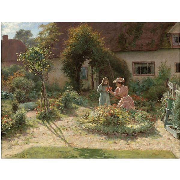Thomas Frederick Mason Sheard , 1866-1921   The Height of Summer oil on canvas