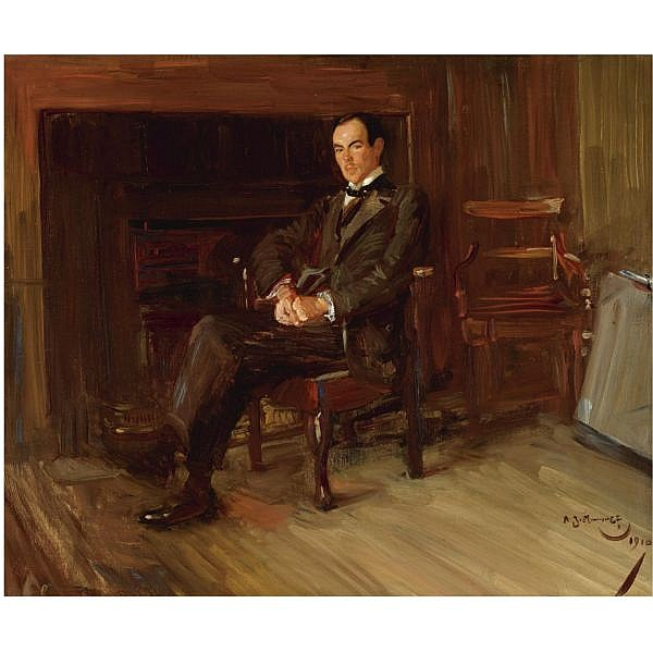 Sir Alfred J. Munnings, P.R.A. , 1878-1959 portrait of Thomas Henry Towler Case   oil on canvas