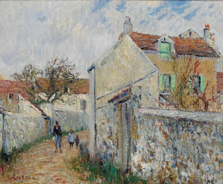 gustave loiseau petite rue triel sur seine rue pissef. Black Bedroom Furniture Sets. Home Design Ideas