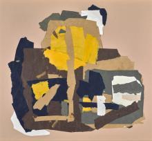 FRANCIS DAVISON | Bright Yellow & White with Black & Brown
