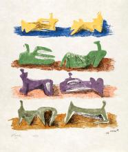 HENRY MOORE, O.M., C.H. | Eight Reclining Figures (C. 81)
