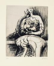 HENRY MOORE, O.M., C.H. | Seated Mother and Child (C. 437)