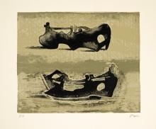 HENRY MOORE, O.M., C.H. | Two Reclining Figures (C. 440)