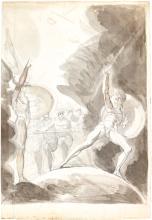 HENRY FUSELI, R.A.   Recto: The 'Psychostasia' of Achilles and Memnon; Verso: A study of a man withoutstretchedarms