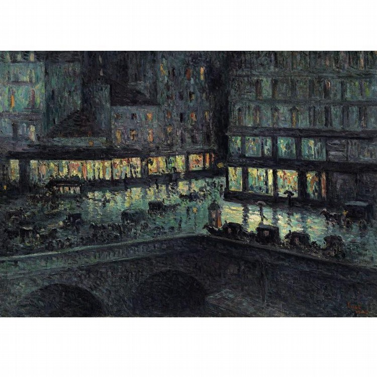 PROPERTY FROM A PRIVATE COLLECTION, CALIFORNIA MAXIMILIEN LUCE 1858-1941 LA SAMARITAINE, LA NUIT