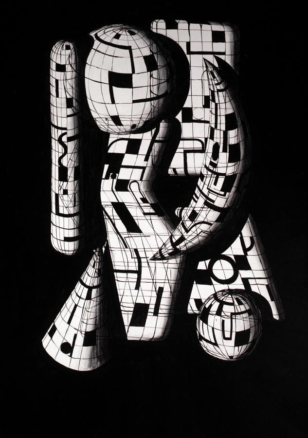 f - PETER SCHUYFF, B. 1958 BLACK TOKYO