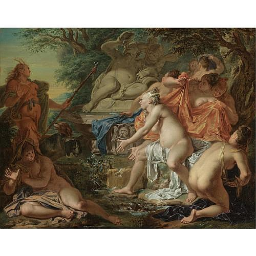Jacques Ignace de Roore Antwerp 1686 - 1747 The Hague , Diana and Acteon