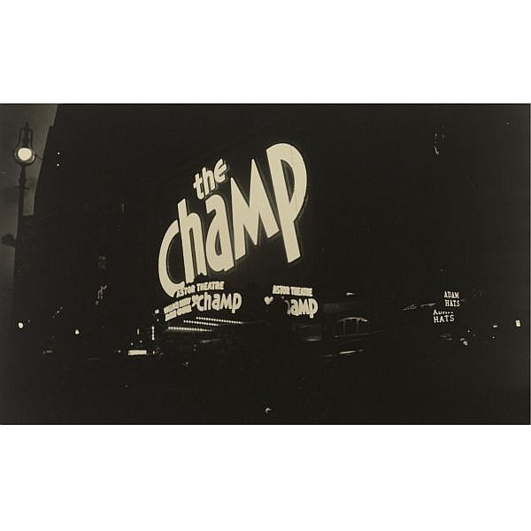 Fred Zinnemann , 1907-1997 'astor theater, times square' (the champ)