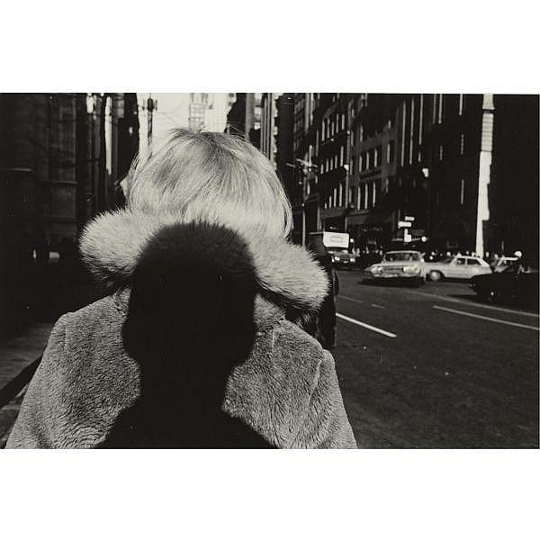 Lee Friedlander , b. 1934   new york city (shadow on fur collar)