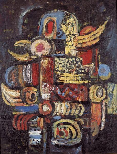 Latiff Mohidin , b. 1938 Pago Pago oil on masonite board