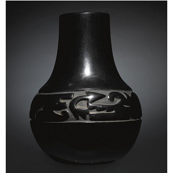 Santa Clara Blackware Jar By Margaret Tafoya