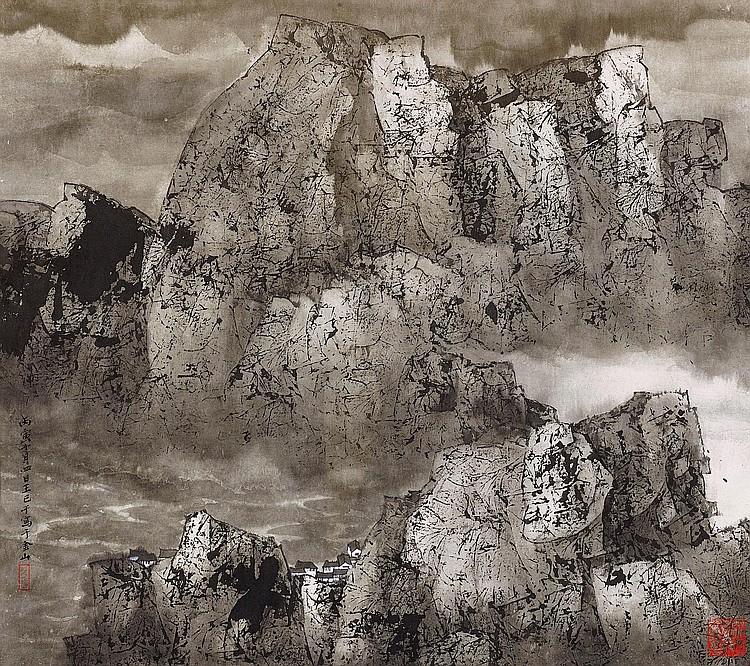 WANG JIQIAN (C. C. WANG) | Misty Mountains No. 960