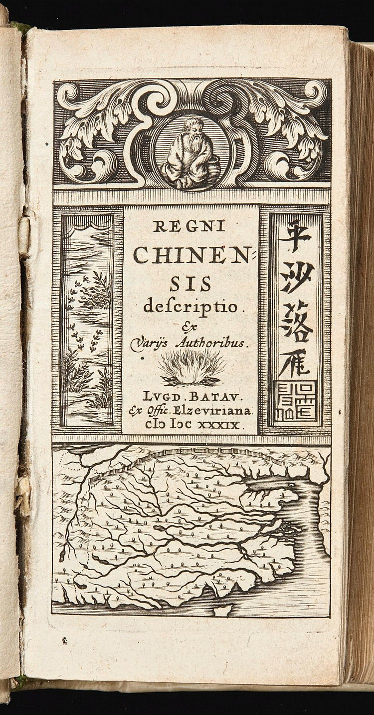 TRIGAULT, NICOLAS, AND OTHERS. REGNI CHINENSIS DESCRIPTIO. 1639, AND ANOTHER BOUND IN