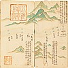 MAP--HUANG YI (ATTRIBUTED TO). MANUSCRIPT MAP OF GRAND CANAL. 1783 OR LATER