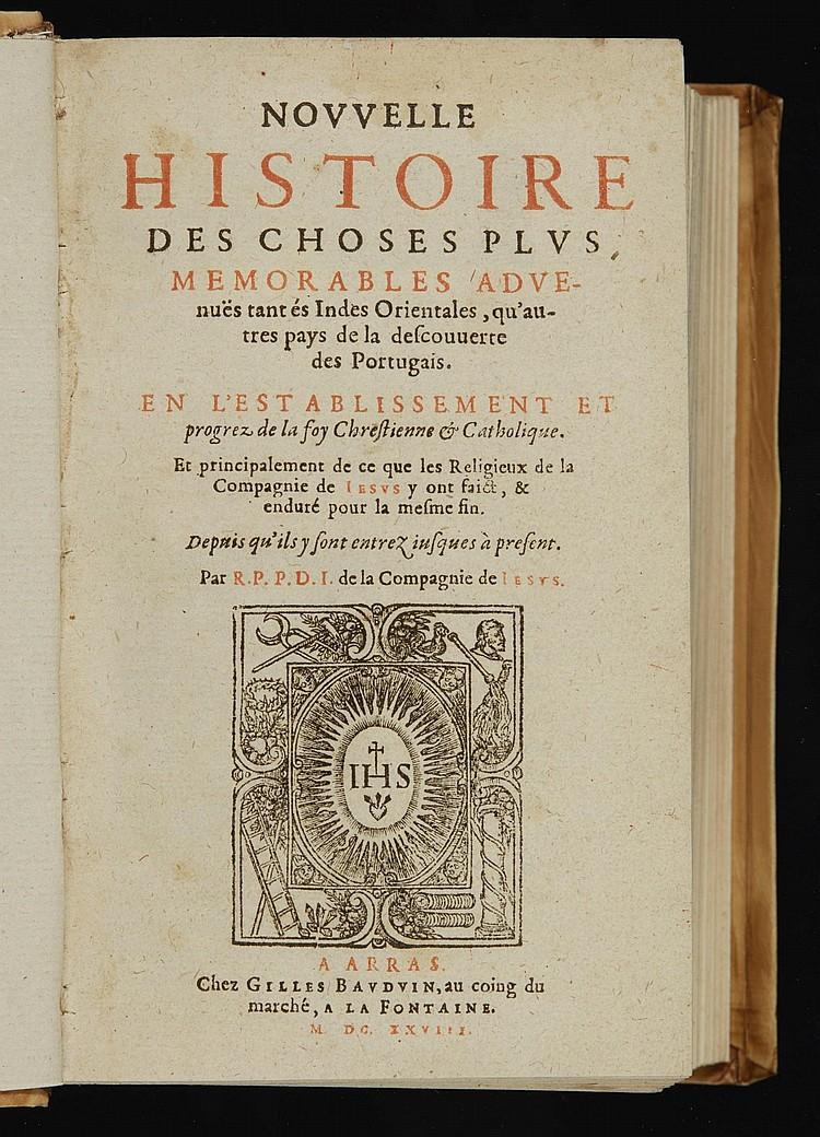 JARRIC, NOUVELLE HISTOIRE, 1628