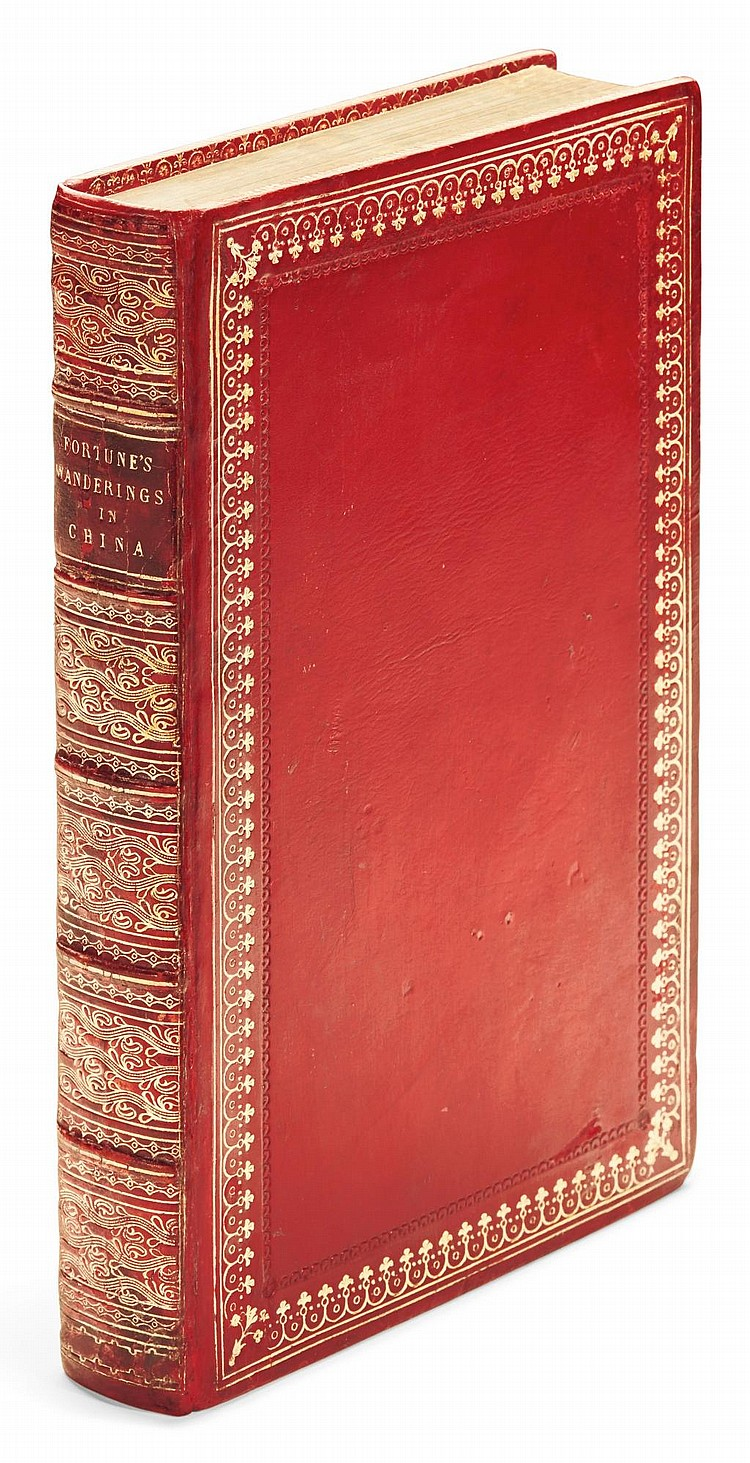 FORTUNE, ROBERT. THREE YEARS WANDERINGS IN THE NORTHERN PROVINCES OF CHINA.1847 (WITH) RESIDENCE AMONG THE CHINESE.1857