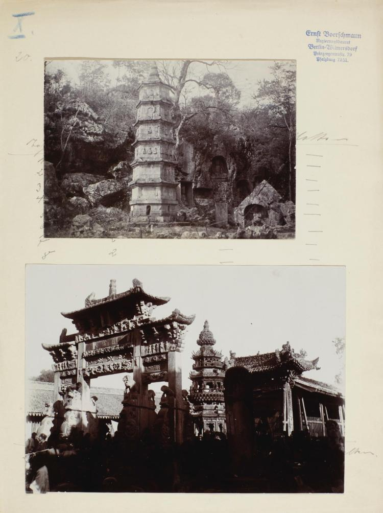 BOERSCHMANN, E. ARCHIVE OF PHOTOGRAPHS AND DRAWINGS OF CHINA
