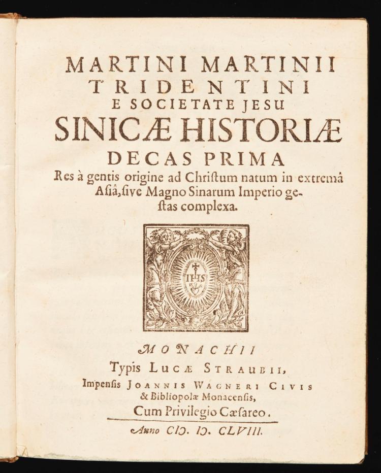 MARTINI, MARTINO. SINICAE HISTORIAE DECAS PRIMA. 1658