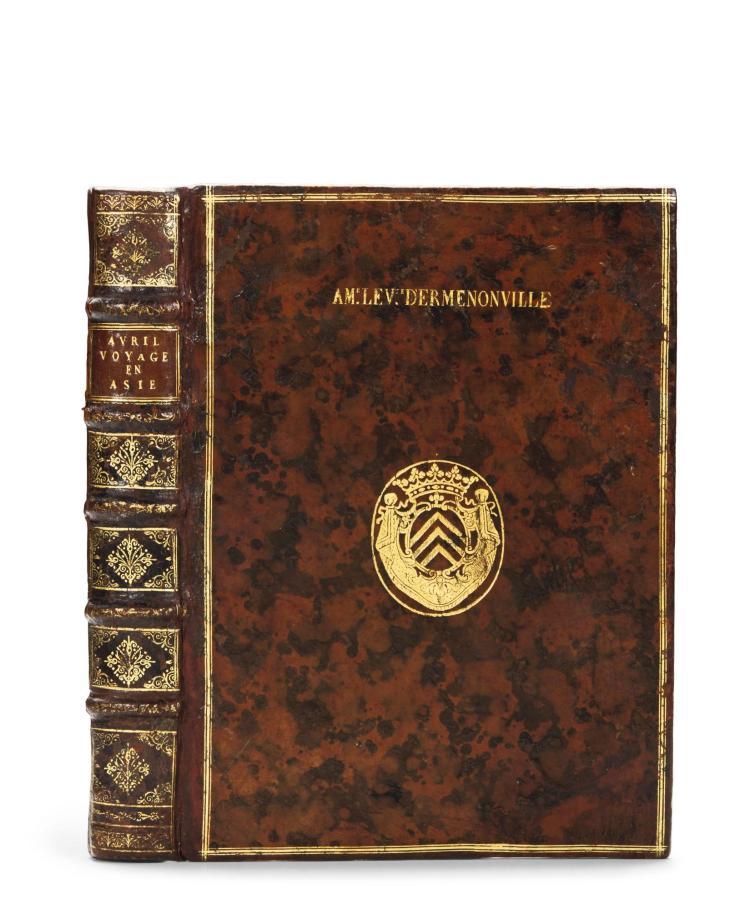 AVRIL, PHILIPPE. VOYAGES EN DIVERS ETATS D'EUROPE ET D'ASIE. 1692