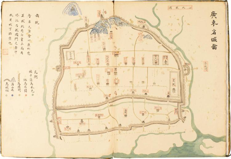 GUANGDONG PROVINCE. MANUSCRIPT MAP [19TH CENTURY]