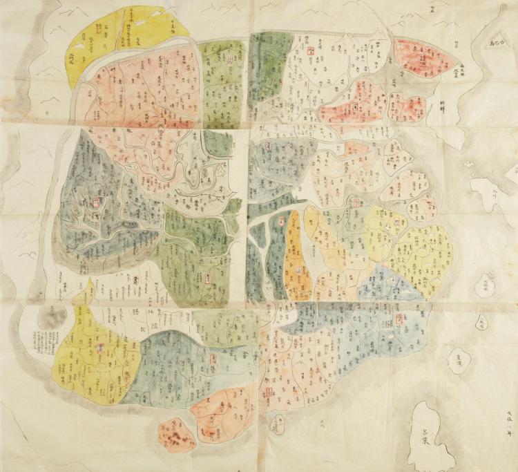JAPANESE MANUSCRIPT MAP OF CHINA. [?1837]