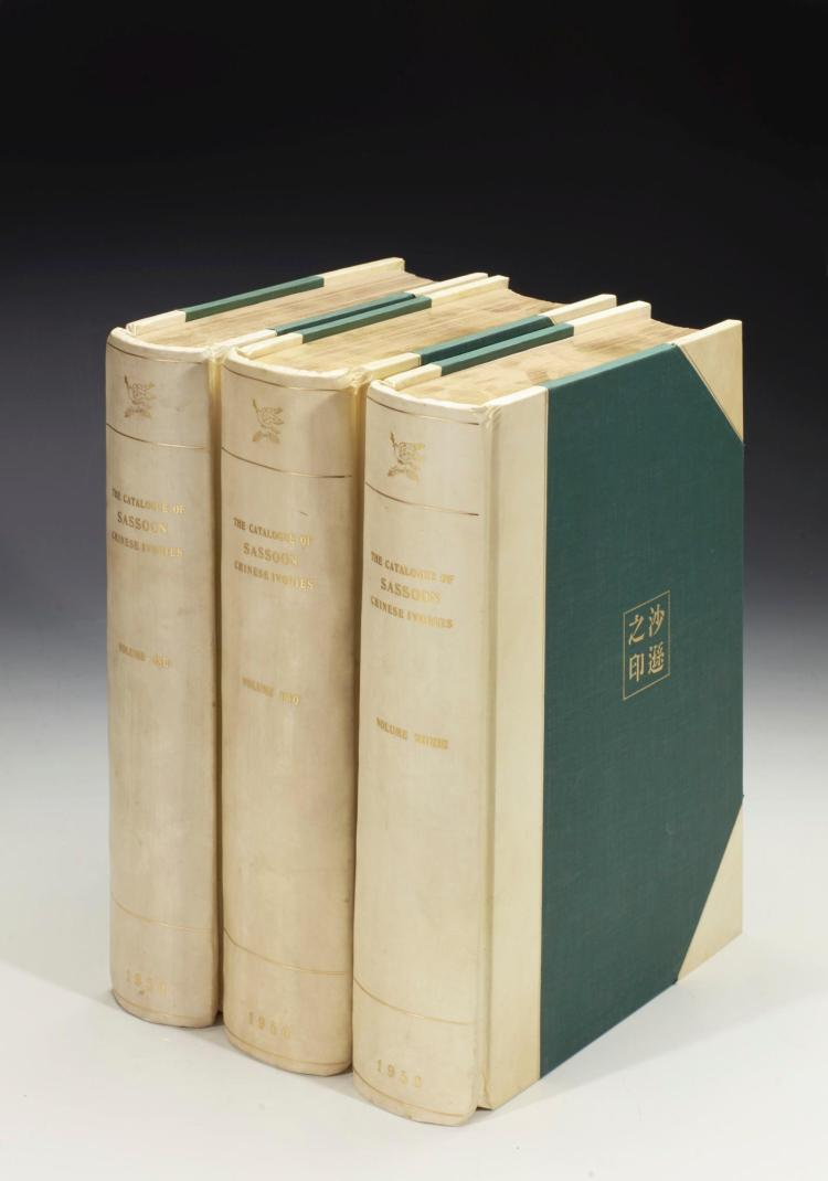 LUCAS, S. E. COMP: THE CATALOGUE OF SASSOON CHINESE IVORIES 1-3. LONDON, 1950