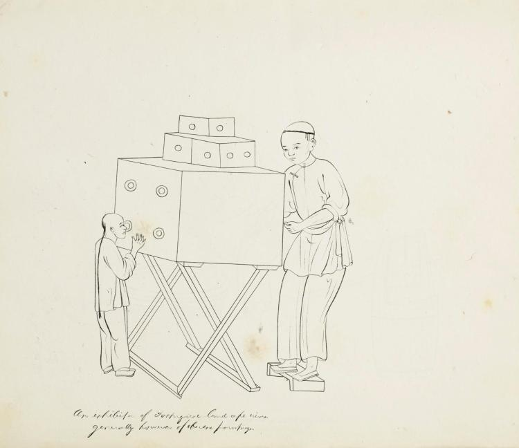 DRAWINGS--CHINESE ALBUM OF TRADES. [NINETEENTH CENTURY]