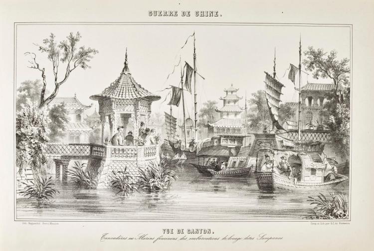 FORTAVION, G.C. DE. LA GUERRE DE CHINE. GRAND PANORAMA ILLUSTRÉ HISTORIQUE ET ANECDOTIQUE.1862