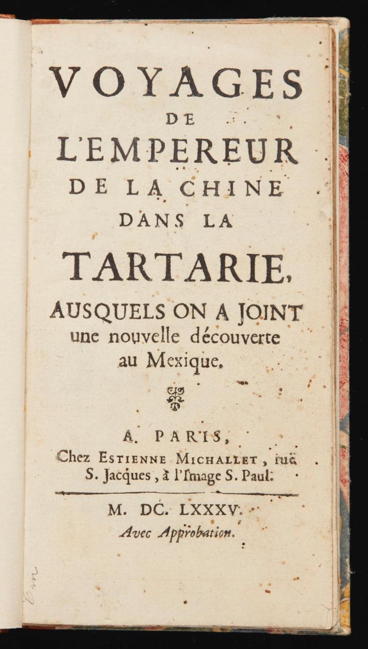 VERBIEST, FERDINAND. VOYAGES DE L'EMPEREUR DE LA CHINE, 1685