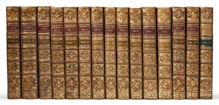 AMIOT, JOSEPH MARIE. MÉMOIRES CONCERNANT L'HISTOIRE... DES CHINOIS, PAR LES MISSIONNAIRES DE PEKIN. 1776-91