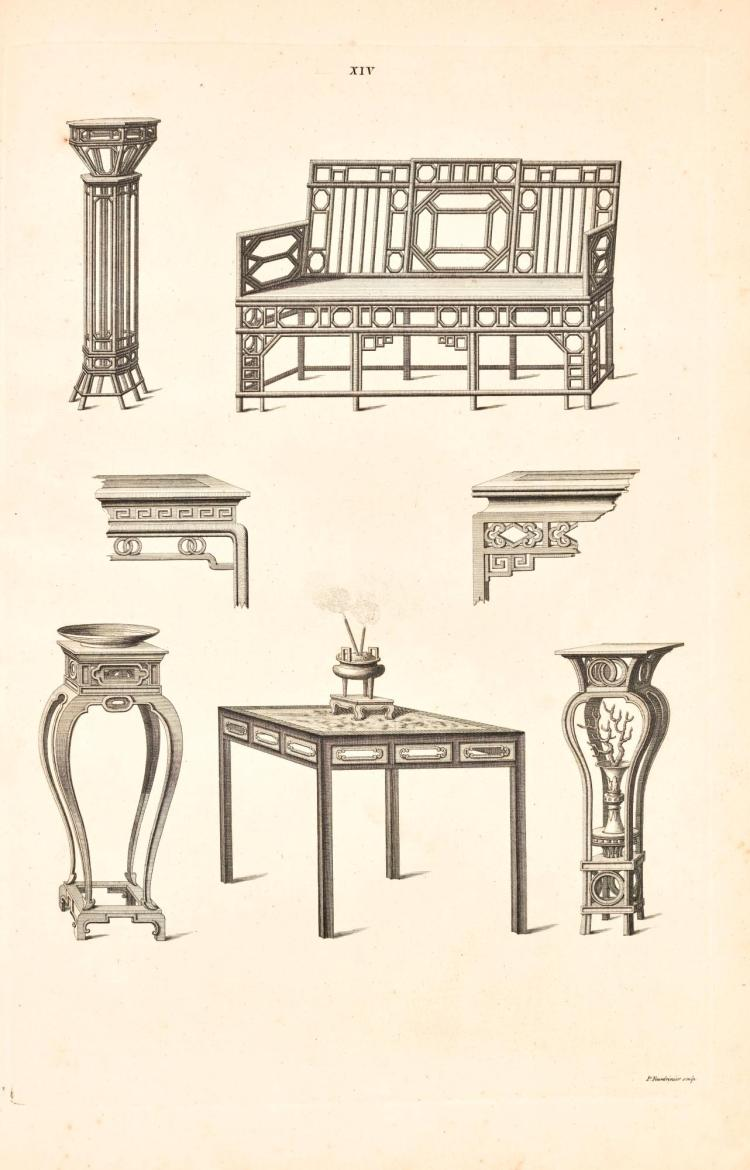 CHAMBERS, WILLIAM. DESSINS DE ÉDIFICES, MEUBLES. 1757