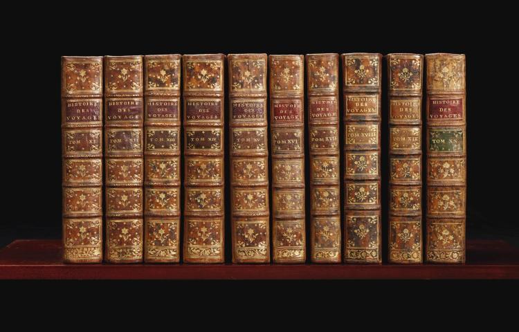 PRÉVOST D'EXILES, ANTOINE-FRANÇOIS ABBÉ. HISTOIRE GÉNÉRALE DES VOYAGES. 1746-1789