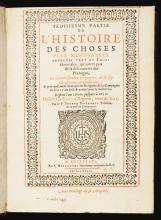 DU JARRIC, PIERRE. HISTOIRE DES CHOSES PLUS MEMORABLES ADVENUES TANT EZ INDES ORIENTALES. 1608