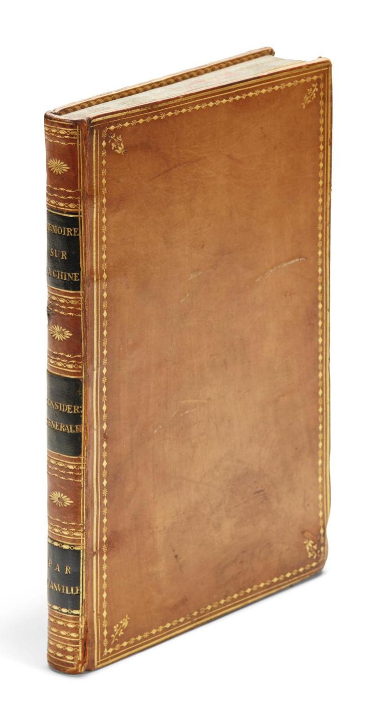 ANVILLE, JEAN-BAPTISTE D'. MÉMOIRE SUR LA CHINE, 1776