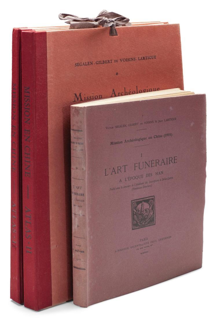 SEGALEN - VOISINS - LARTIGUE. MISSION ARCHÉOLOGIQUE EN CHINE. 1923, 1924/1935