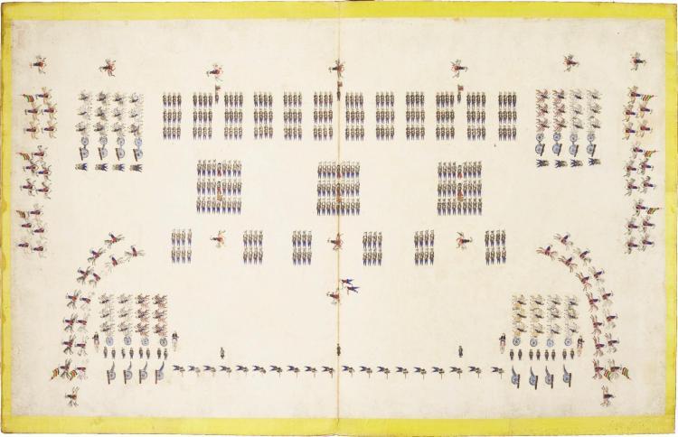 MILITARY ALBUM. ALBUM OF ILLUSTRATIONS OF CHINESE MILITARY FORMATIONS (ZHONGGUO ZHENTU). [CHINA, NINETEENTH CENTURY]
