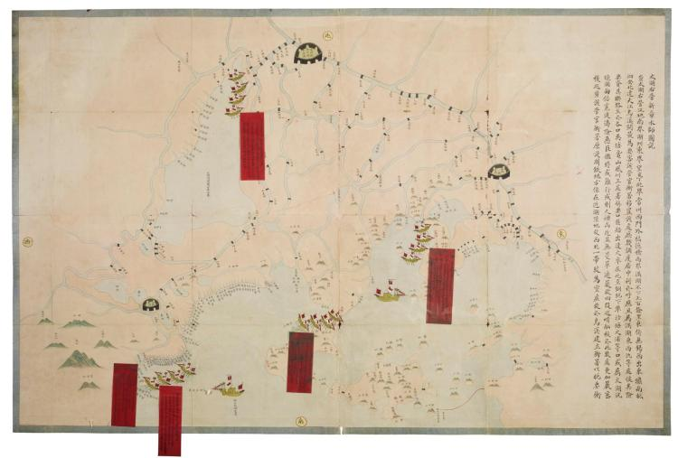 MANUSCRIPT MAP OF LAKE TAI, 1871