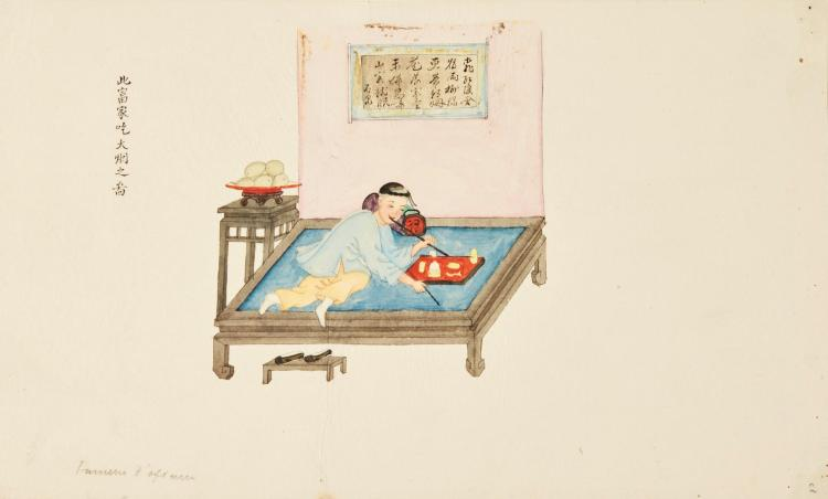 WATERCOLOURS. AN ALBUM OF CHINESE EXPORT DRAWINGS. CIRCA 1850