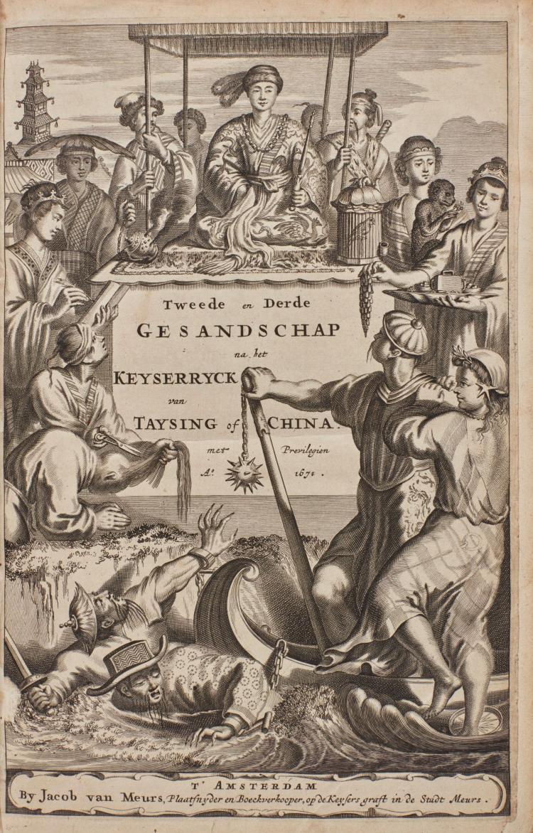 DAPPER, OLFERT. GEDENKWAERDIG BEDRYF DER NEDERLANDSCHE. 1670