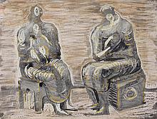 HENRY MOORE | Two Women and Children