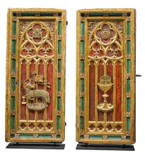 ENGLISH, PROBABLY CIRCA 1500 | Pair of Doors for a Liturgical Cupboard