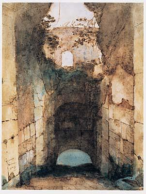 *Francois-Marius Granet (1775-1849) a view of a ruined vault in the colosseum.  Signed and dated: