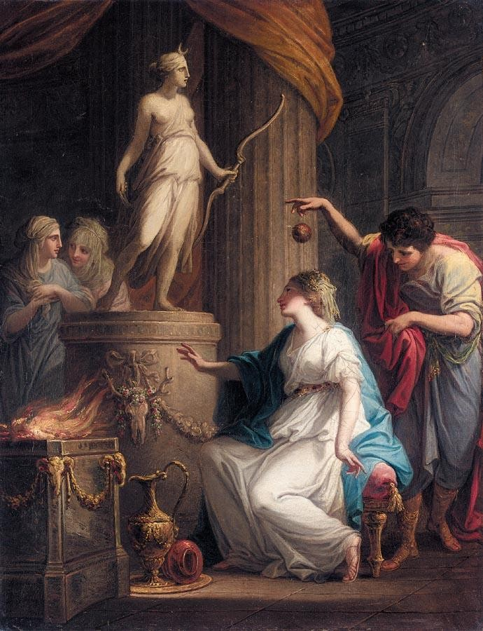 PROPERTY OF A PRIVATE COLLECTION ANGELICA KAUFFMAN, R.A.  1741-1807 ORESTES AND IPHIGENIA AT