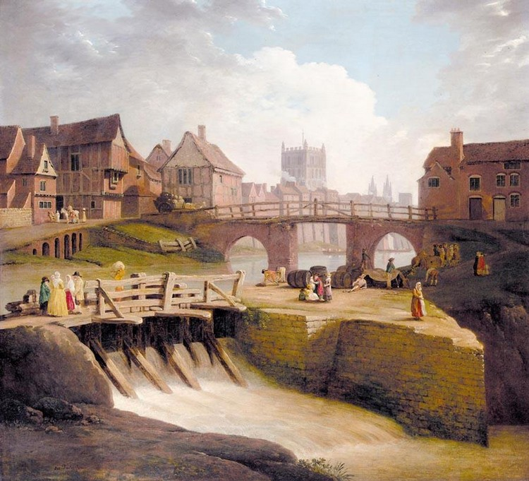 JOSEPH FARINGTON, R.A.  1747-1821 VIEW OF TEWKESBURY