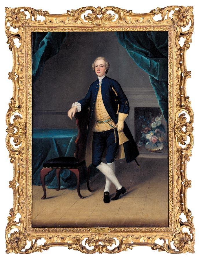 ARTHUR DEVIS 1711-1787 PORTRAIT OF MR THOMAS