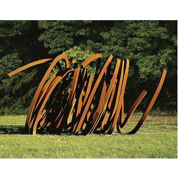 Bernar Venet , b.1941 Four Indeterminate Lines rolled steel