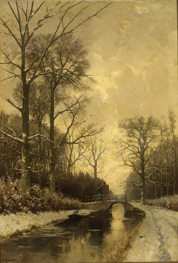 FREDERICUS JACOBUS VAN ROSSUM DU CHATTEL DUTCH 1856-1917