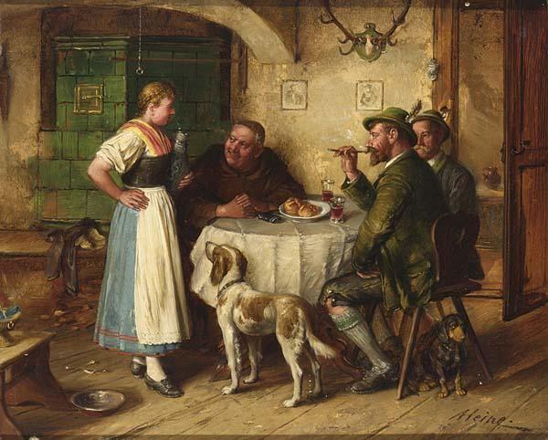 JOHANN ADALBERT HEINE GERMAN 1850-1900