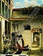 JOHANNES ANTHONIE BALTHASAR STROEBEL (1821-1905) A KITCHEN-MAID IN A COURT YARD, Johannes Anthonie Balthasar Stroebel, Click for value