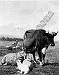 LOUIS ROBBE (1806-1887) CATTLE IN A SUMMER LANDSCAPE, Louis Robbe, Click for value
